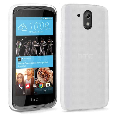 Microsonic Htc Desire 526 Kılıf Transparent Soft Beyaz