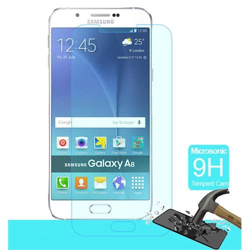 Microsonic Samsung Galaxy A8 Temperli Cam Ekran Koruyucu Kırılmaz Film