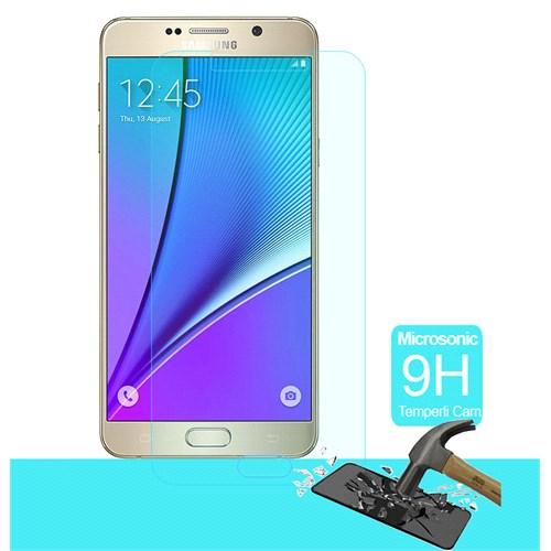 Microsonic Samsung Galaxy Note 5 Temperli Cam Ekran Koruyucu Kırılmaz Film