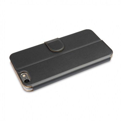 Ahha İphone 6 4.7 Dual Face Flip Case Space Grey Ocean Blue