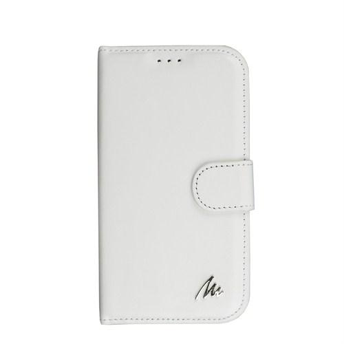 Matraş Samsung Galaxy S4 Stand Kartlıklı Cüzdan Kılıf Briç Beyaz