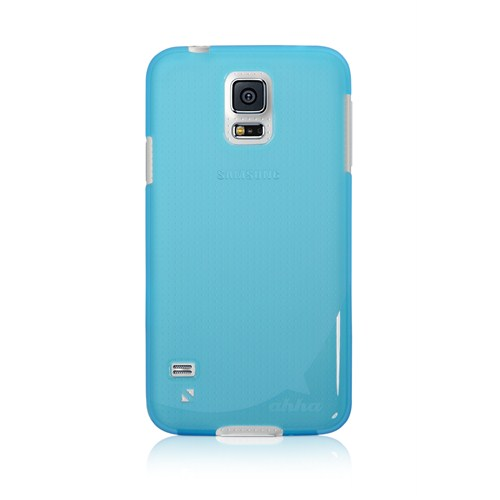 Ahha Sg Galaxy S5 L Sm-G900f,K,L,S,6V,8V,Moya Gummi Shell Tinted Blue