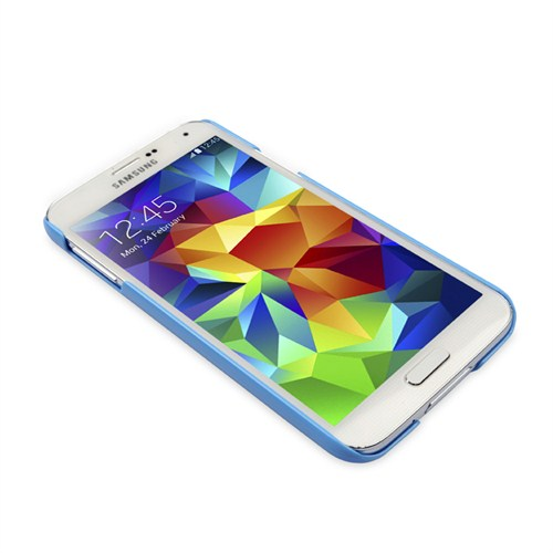Ahha Sg Galaxy S5 L Sm-G900f,K,L,S,6V,8V, Pozo Hard Case Solid Blue