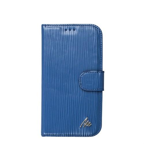 Matraş Galaxy S4 Stand Kartlıklı Cüzdan Kılıf Yol Mavi