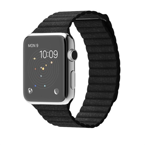 Case 4u Apple Watch 42 mm. Deri Loop Kayış Siyah