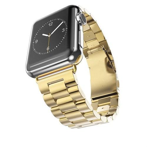 Case 4u Apple Watch 42 mm . Metal Kayış Baklalı Model Altın
