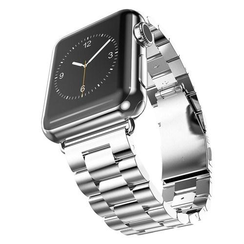 Case 4u Apple Watch Metal Kayış Baklalı Model Gümüş (42mm)