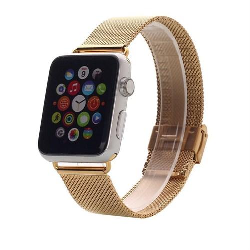 Case 4u Apple Watch 42 mm. Metal Kayış Milano Loop Altın