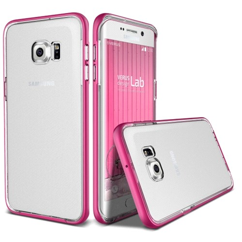 Verus Samsung Galaxy S6 Edge Plus Crystal Bumper Series Kılıf Hot Pink