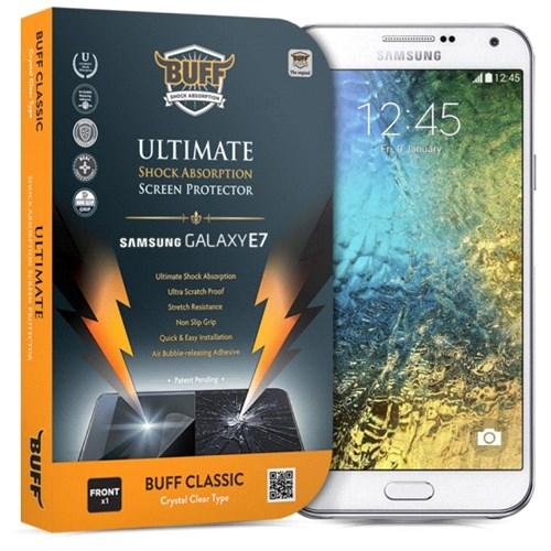 Buff Samsung Galaxy E7 Darbe Emici Ekran Koruma Filmi