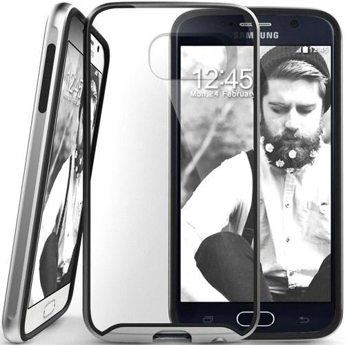 Caseology Samsung Galaxy S6 Waterfall Series Kılıf Gümüş