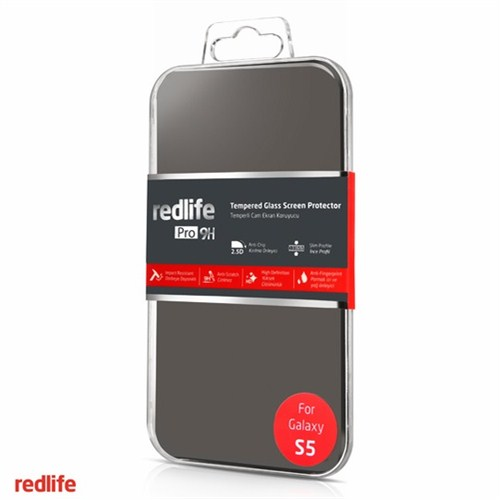 Redlife Samsung Galaxy S5 Yuvarlak Kenarlı 0,33 mm. Temperli Cam Ekran Koruyucu - AKET00677