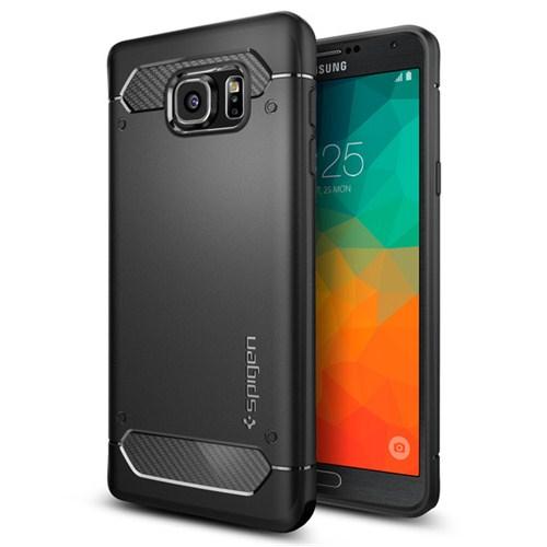 Spigen Samsung Galaxy Note 5 Kılıf Capsule Ultra Black Rugged - SGP11683