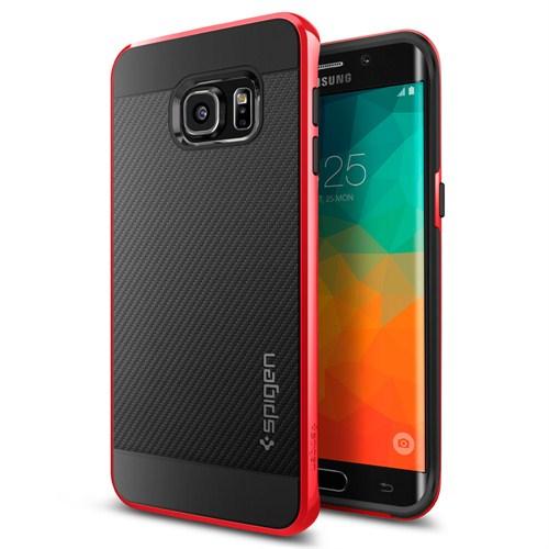 Spigen Samsung Galaxy S6 Edge Plus Kılıf Neo Hybrid Carbon Dante Red -SGP11706