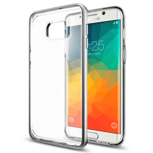 Spigen Samsung Galaxy S6 Edge Plus Kılıf Neo Hybrid Crystal Satin Silver - SGP11719