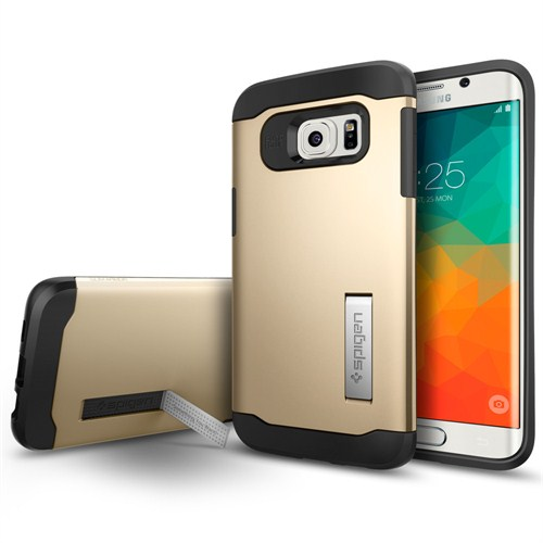 Spigen Samsung Galaxy S6 Edge Plus Kılıf Slim Armor Champagne Gold- SGP11702