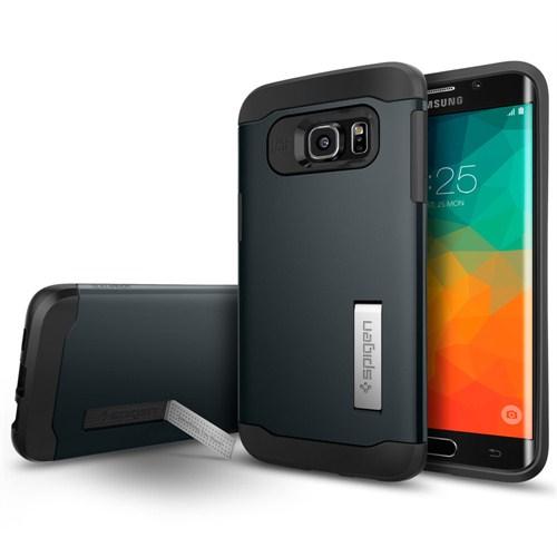 Spigen Samsung Galaxy S6 Edge Plus Kılıf Slim Armor Gun Metal -SGP11701