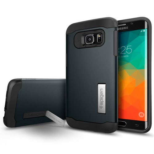 Spigen Samsung Galaxy S6 Edge Plus Kılıf Slim Armor Metal Slate - SGP11716