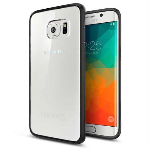 Spigen Samsung Galaxy S6 Edge Plus Kılıf Ultra Hybrid Black - SGP11715