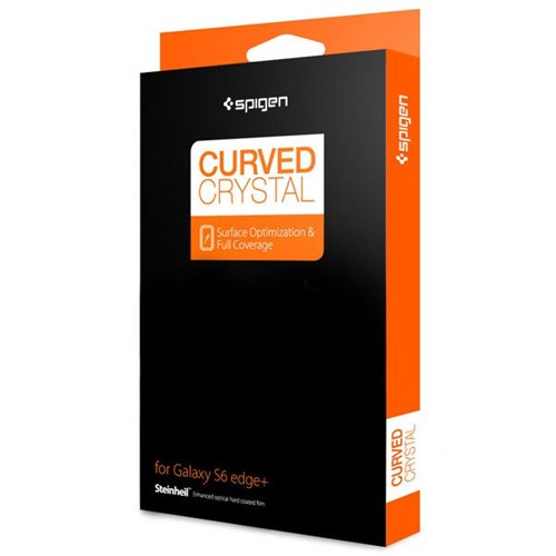 Spigen Steinheil Curved Crystal for Galaxy S6 Edge Plus (Ön 1+ Arka 1 Film) Ekran Koruyucu - SGP11694