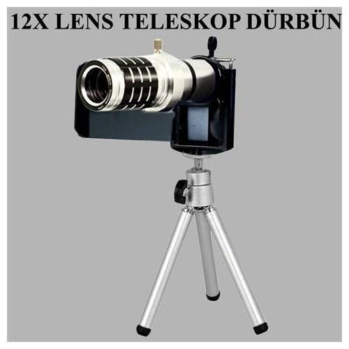 12X Lens Teleskop Multi-Model Universal Her Telefona Uyumlu