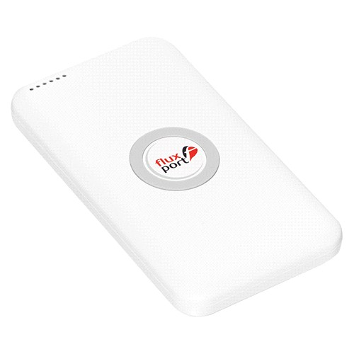 FluxPort Accu2Go Beyaz 4800 mAh Wireless Charger (Taşınabilir Kablosuz Şarj Cihazı) - FP-A -001
