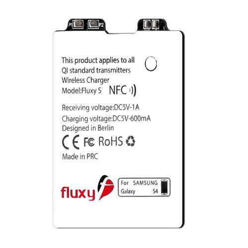 FluxPort Samsung Galaxy S4 için Kablosuz Şarj Aparatı - FP-F-014