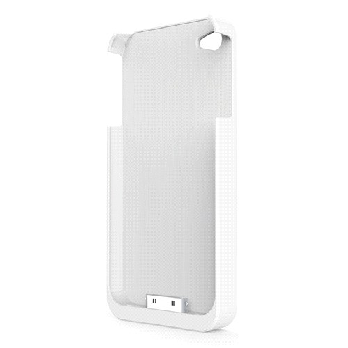 FluxPort Apple iPhone 4/4S için Kablosuz Şarj Kılıfı - Beyaz - FP-F-001