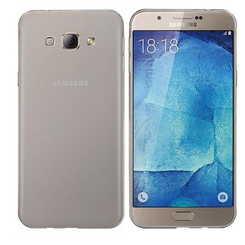 Case 4U Samsung Galaxy A8 Ultra İnce Silikon Kılıf Füme