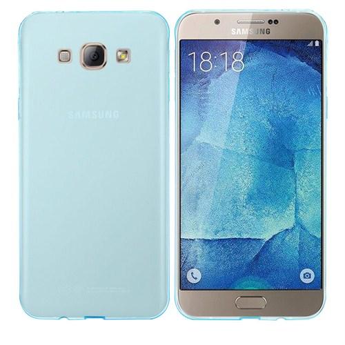 Case 4U Samsung Galaxy A8 Ultra İnce Silikon Kılıf Mavi