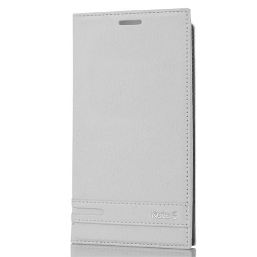 CoverZone Samsung Galaxy Note 5 Kılıf Kapaklı Safir Beyaz