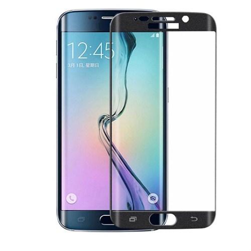 Case 4U Samsung Galaxy S6 Edge 3D Kavisli Kırılmaz Cam Ekran Koruyucu Siyah