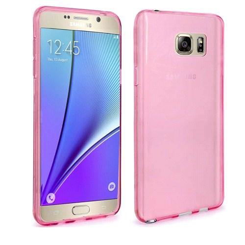 Case 4U Samsung Galaxy Note 5 Ultra İnce Silikon Kılıf Pembe