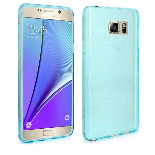 Case 4U Samsung Galaxy Note 5 Ultra İnce Silikon Kılıf Mavi
