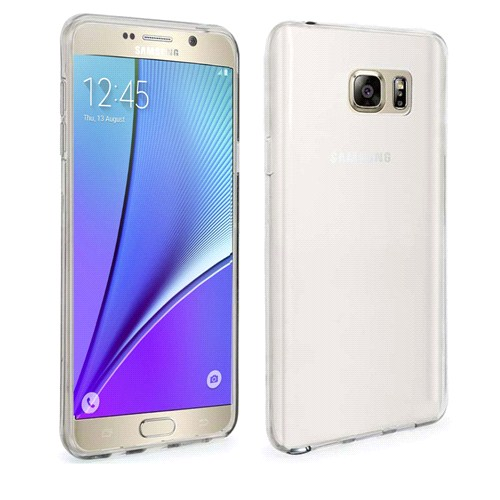Case 4U Samsung Galaxy Note 5 Ultra İnce Silikon Kılıf Şeffaf