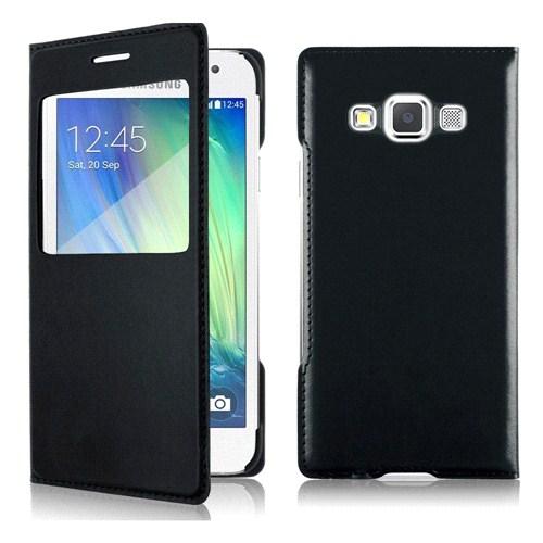 Case 4U Samsung Galaxy A5 Pencereli Flip Cover Siyah