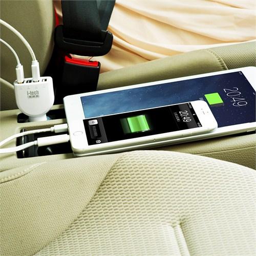 i-TechGear 4 Ports Smartpower Car Charger