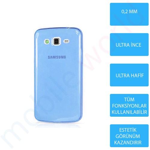 Mobile World Samsung Galaxy Grand Prime Silikon + Cam Ekran Koruyucu + Kalem Seti Mavi - 2790