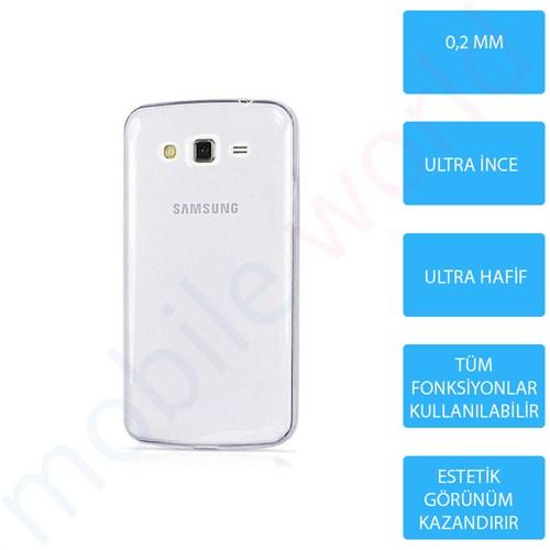 Mobile World Samsung Galaxy A3 Silikon + Cam Ekran Koruyucu + Kalem Seti Şeffaf - 2779
