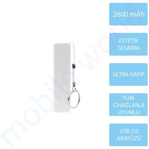 Mobile Word 2600 mAh Taşınabilir Şarj Cihazı Beyaz - 2117