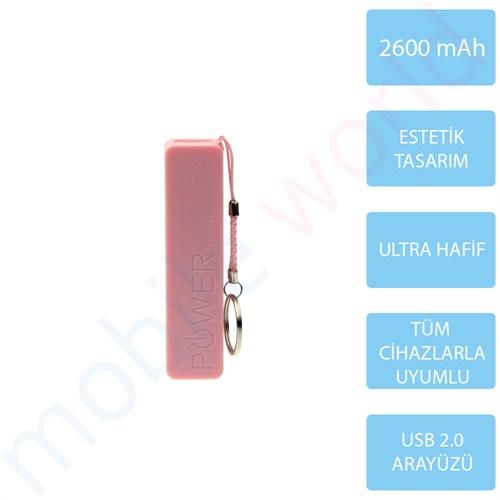 Mobile Word 2600 mAh Taşınabilir Şarj Cihazı Pembe - 2116