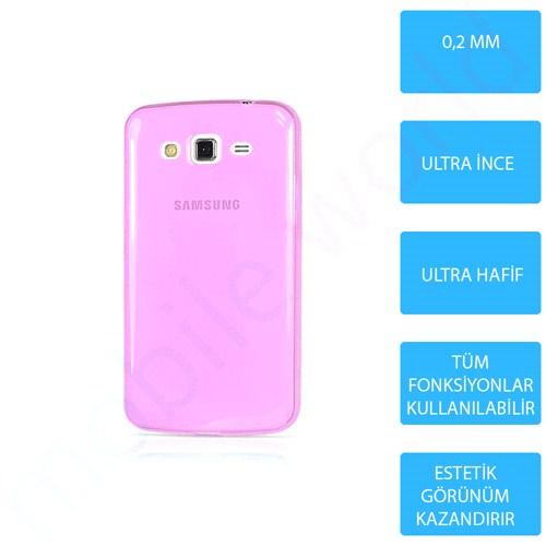 Mobile World Samsung Galaxy A7 Silikon + Cam Ekran Koruyucu + Kalem Seti Pembe - 2741