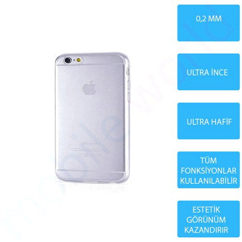 Mobile World iPhone 4 Silikon + Cam Ekran Koruyucu + Kalem Seti Şeffaf - 2724