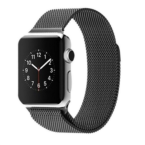 Case 4u Apple Watch Metal Kayış Milano Loop Siyah (42mm)