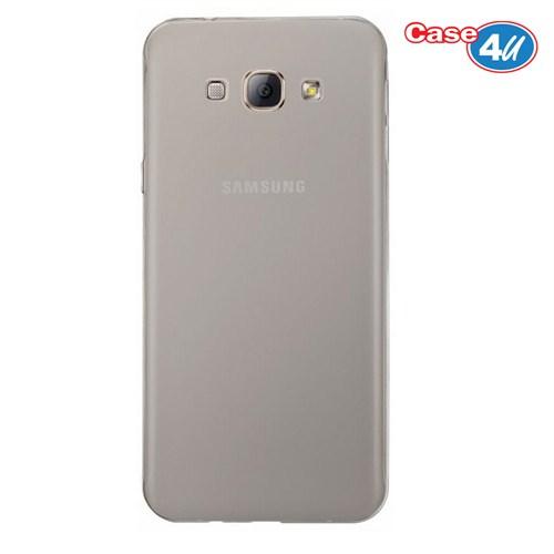 Case 4U Samsung Galaxy J5 Ultra İnce Silikon Kılıf Füme