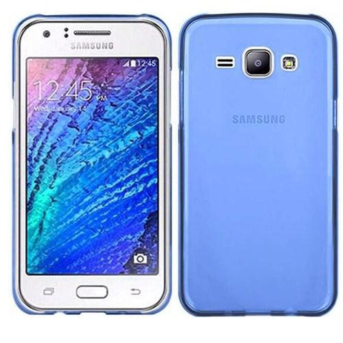 Case 4U Samsung Galaxy J7 Ultra İnce Silikon Kılıf Mavi