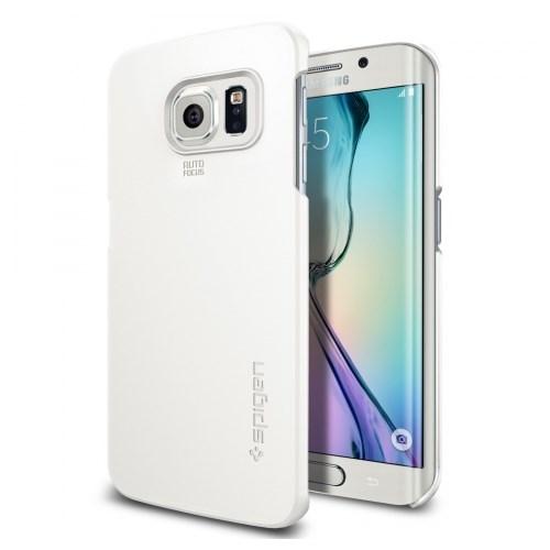 Spigen Galaxy S6 Edge Case Thin Fit (Beyaz)