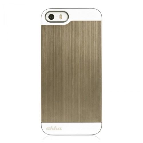 Ahha Apple İphone 5/5S Jensen Metallic Case (Gold)