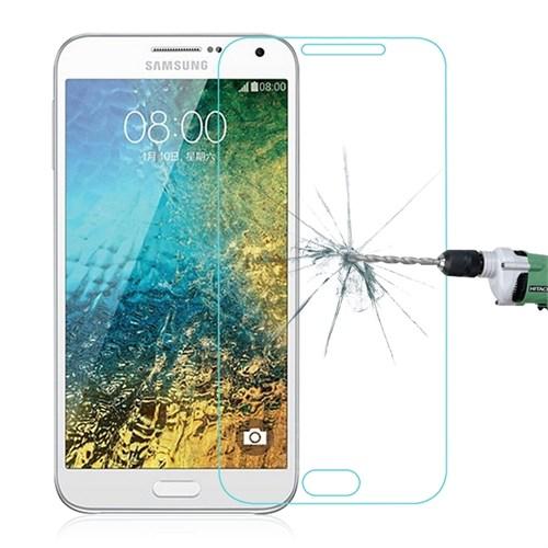 Lopard Samsung Galaxy E7 Kırılmaz Cam Temperli Ekran Koruyucu