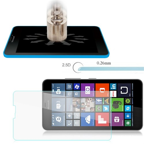 Lopard Microsoft Lumia 640 Kırılmaz Cam Temperli Ekran Koruyucu